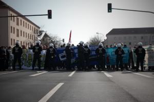 Mehr als 500 Menschen beteiligten sich an den antirassistischen Protesten in Merseburg © D. Lima/ visual-change