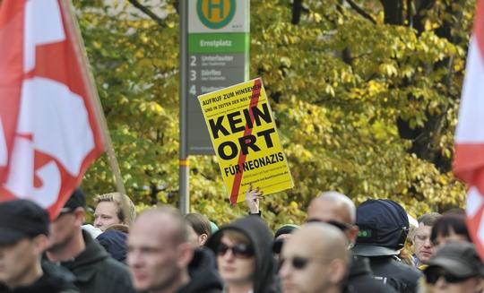 Protest gegen einen Neonaziaufmarsch ©Timo Müller (Symbolbild)