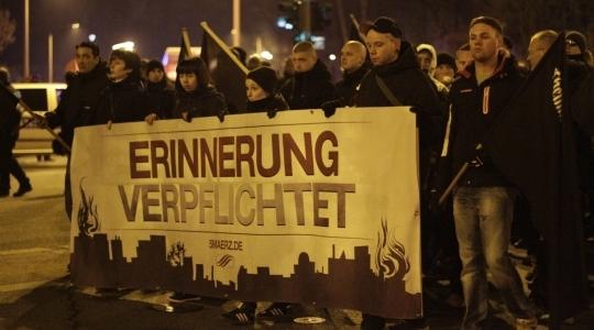 Neonazi-Demo in Chemnitz am 5. März 2014, Foto: Johannes Grunert