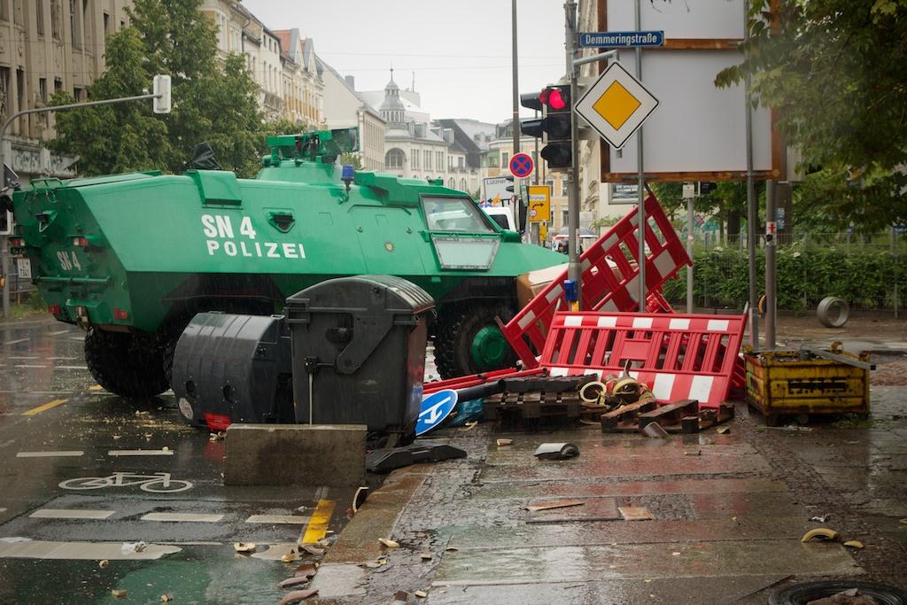 Ausnahmezustand in Leipzig