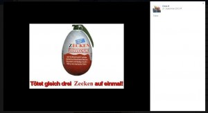 Eindeutige Postings auf Facebook, Bild: Screenshot Facebook.