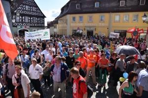 Protestzug durch Scheinfeld ©TM