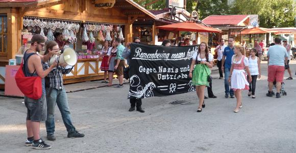 Antifaschistische Kundgebung am Tänzelfest 2014  (ɔ) rh