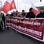 Gegner auf der Aufmarschroute der Nazis