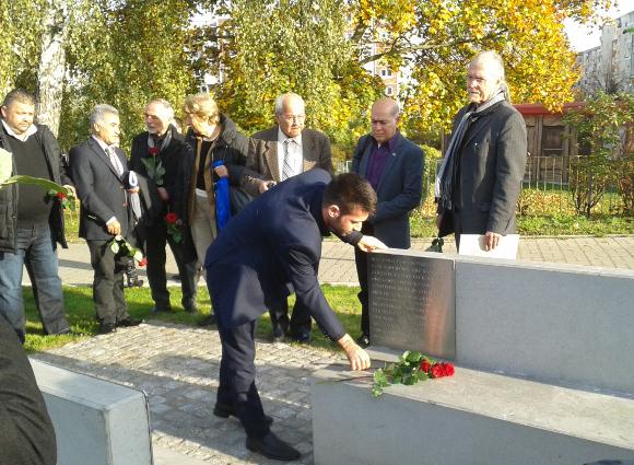 Gedenkminute am Ort des NSU-Mordes Hannes Stepputat