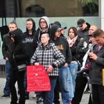 Rund 200 Neonazis schlossen sich dem Aufmarsch an