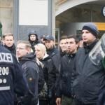 Wollten am Hooligan-Aufmarsch teilnehmen: Neonazis aus Brandenburg © Theo Schneider