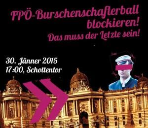 """Mobi-Flyer für die Proteste gegen den """"Akademikerball"""""""