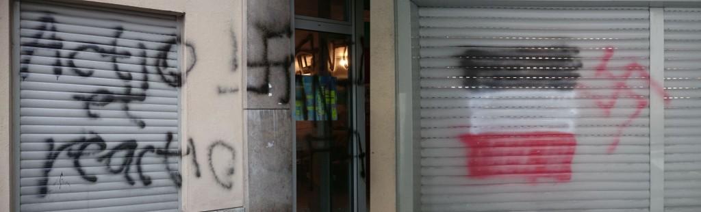 Neonazi-Schmierereien am Außenbereich, Foto: Asta Uni Bamberg