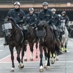 Reiterstaffel der Polizei, die mit mehr als 5000 Beamten in Einsatz war | © Christian Martischius