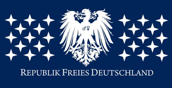 """Flagge der """"Republik Freies Deutschland"""""""