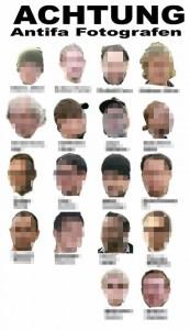 18 Journalisten werden per Steckbrief auf bei Heimgegnern auf Facebook verbreitet