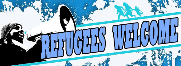 Refugees welcome Güstrow 6.12.14 Demo Störungsmelder