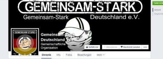 """""""Gemeinsam-Stark Deutschland"""", auch bei Facebook, Screenshot"""