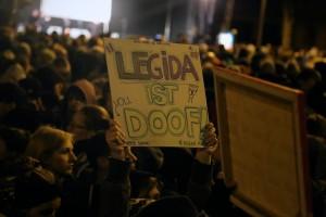 """Rund 30.000 Menschen demonstrierten gegen """"Legida"""", Foto: visual.change"""