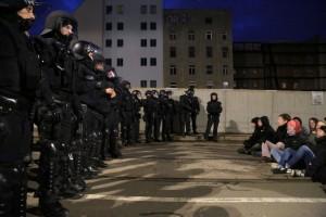 Hier eine Blockade an der Goethestraße © visual.change