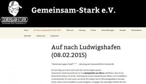 Die Mobilisierung für den Aufmarsch in Ludwigshafen läuft bereits, Screenshot