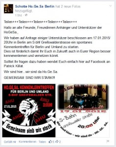 Facebook-Aufruf zum Berliner HoGeSa-Treffen © Screenshot