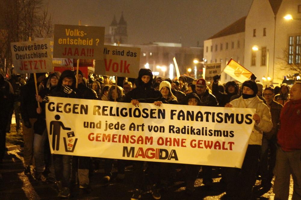 Bis zu 800 Menschen konnte MAGIDA mobilisieren © Lukas Beyer