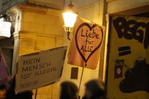 Gegenproteste mit klarer Message © Lukas Beyer