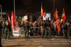 Nazigegner an der Frankenstraße | Foto: Müller