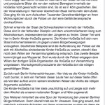 """Die Kinder-HoGeSa: """"mehr dem Alkohol als unseren nationalen Sorgen und Nöten zugewandt"""" © Screenshot Facebook"""