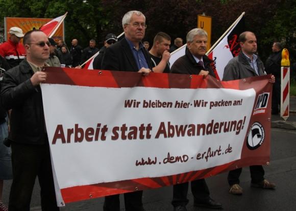 Die NPD am 1. Mai 2010 in Erfurt