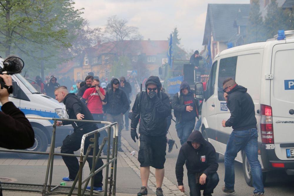 Neonazi-Demo in Saalfeld © Publikative.org