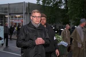 Michael Gielnik (NPD) am 8. Mai 2014 in Demmin © Hans Schlechtenberg