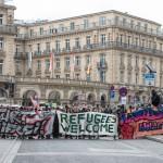 Straßenblockade der Gegendemonstranten | © Christian Martischius