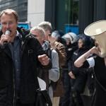 Der rechtspopulistische Blogger Michael Stürzenberger mit Mikrofon | © Christian Martischius