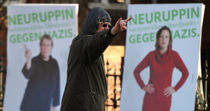 Neuruppin war 2011 schon einmal Treffpunkt: Dort fand der NPD-Bundesparteitag statt. Foto: dpa