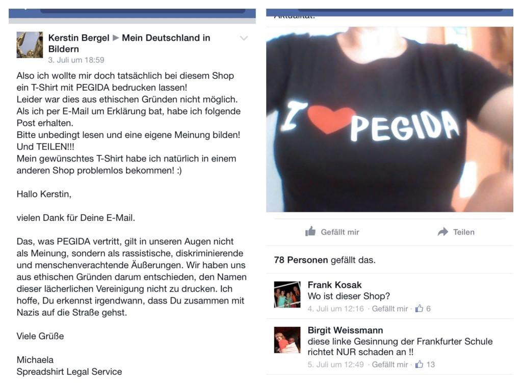 Spreadshirt wehrt sich gegen Pegida