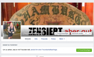 Zensierter Rücken von de Vries, screenshot Facebook