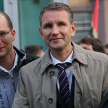 Steffen Möller, Björn Höcke, Corinna herold (v.l.n.r.), © Kai Budler