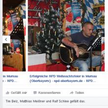 Liedermacher auf Weisse Weihnacht in Murnau ©Screenshot