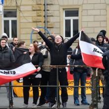 Teilnehmer der Neonazi-Kundgebung © Jonas Miller