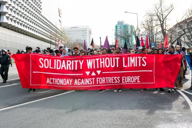 Antifaschistische Demonstration in Dresden, Foto: Felix M. Steiner