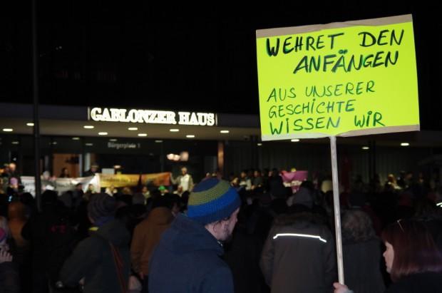 Solidaritätsdemonstration Brandanschlag Kaufbeuren Neugablonz