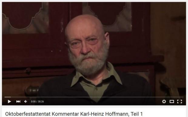 Rechtsextremer Selbstdarsteller Hoffmann auf seinem Youtube-Kanal