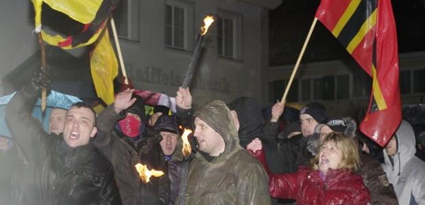 """""""Allgida"""": Neonazis demonstrieren in Obergünzburg"""