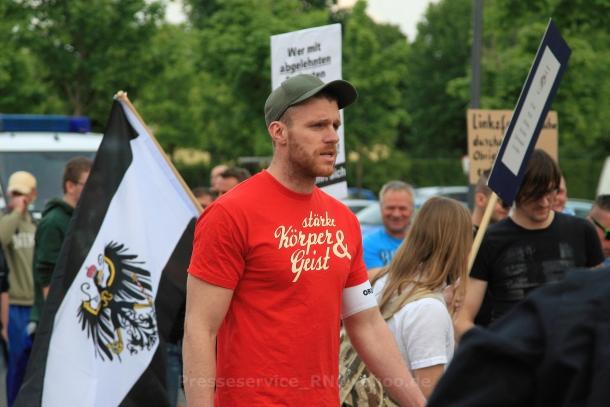NPD-POlitiker Maik Schneider, Foto: Presseservice Rathenow