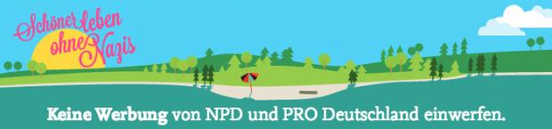 Wenn die NPD trotz Aufkleber am Briefkasten Werbung einwirft, kann man vor Gericht gehen