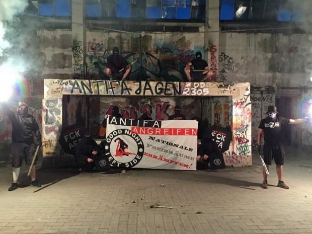 Rechte Hools suchen Konfrontation in Dresden-Neustadt