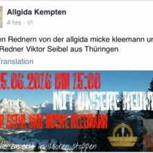 "Redner zur Allgida Demo ""Asyl stopen"" in Kempten ©Screenshot"