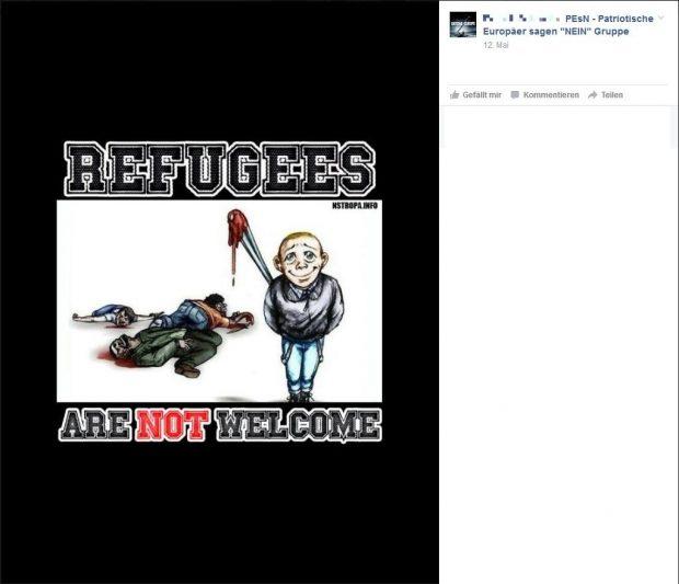Screenshot aus der internen Facebook-Gruppe der PEsN
