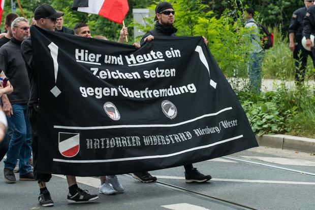 Teilnehmer des Naziaufmarsches | © Christian Martischius