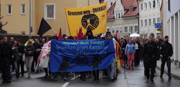 "Demo gegen ""Allgida"" am 2.7.16 in Kempten © S. Lipp"