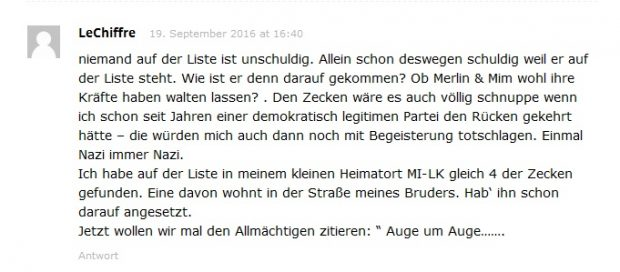 Anonymous Fake Kommentar