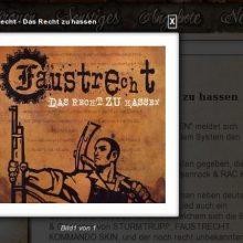 """Eine der """"Eigenproduktionen"""" des örtlichen Plattenlabel """"Oldschool Records"""": """"Faustrecht - Das Recht zu hassen"""" ©Screenshot"""